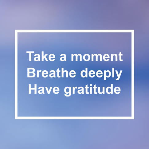 Breathing, mindfulness and gratitude