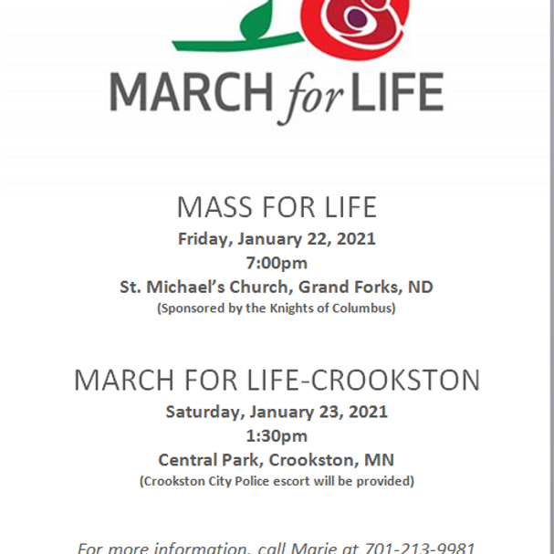 March for Life - Crookston