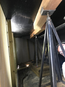 Bearing Piers under Mobile Home