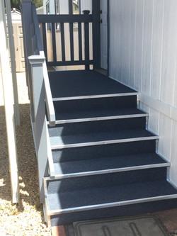 New Carpet and Railing