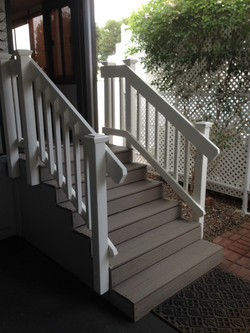 Composite Steps with Railing