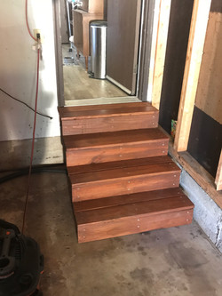 Wood Steps for Garage.