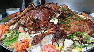whol lamb roasted