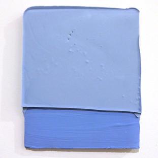 Sem título, 2016 Tinta polivinílica e encáustica sobre cimento. 23x19x2 cm