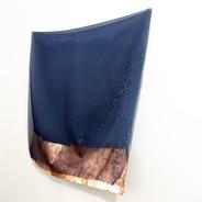 Sem título, 2019.  Folha de cobre sobre tecido e alfinete 60x70x10cm