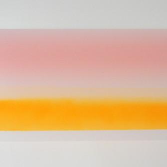 Sem título XV, 2014 Tinta spray e fita adesiva sobre papel poliéster 35x20x15 cm