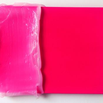 magenta silicone, 2015 tinta acrílica e silicone sobre tela 22x25x3 cm