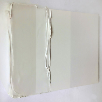 Branco gelo neve, 2015  tinta serigráfica, acrílica e silicone sobre tela 20x26x2 cm