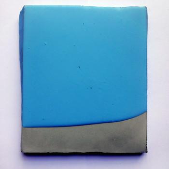 Sem  título, 2016 Borracha de silicone sobre cimento. 14x11x1cm