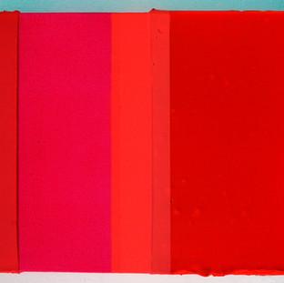 massa de cor magenta, 2015 tinta acrílica, tinta spray e tinta serigráfica sobre tela 20x15 cm