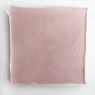 Sem título, 2017.  Encáustica sobre cimento. 44x43x4,5cm