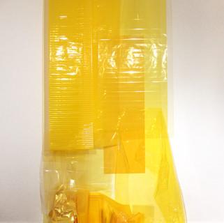 Sem título II , 2010 Plásticos, acetato, celofane, nylon.  Dimensões variáveis