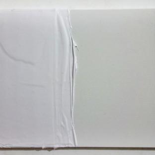 Branco mole, 2015 Tinta spray e tinta serigráfica sobre tela. 35 x 27 cm