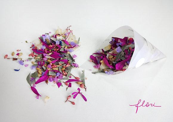 Confete com Flores