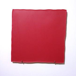 Sem  título, 2016 Encáustica  e ganchos. 30x30x2,5cm