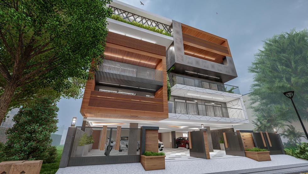 Modern Residence architecture Gurugram
