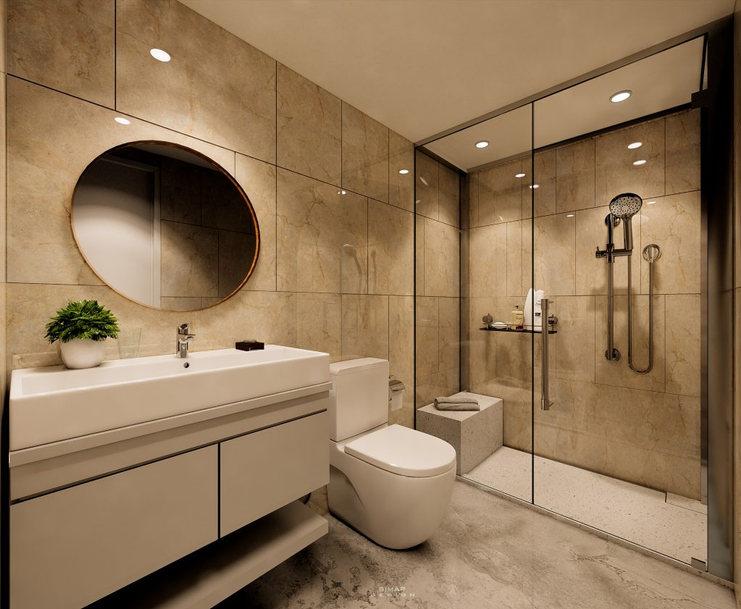 Clean Minimalist bathroom