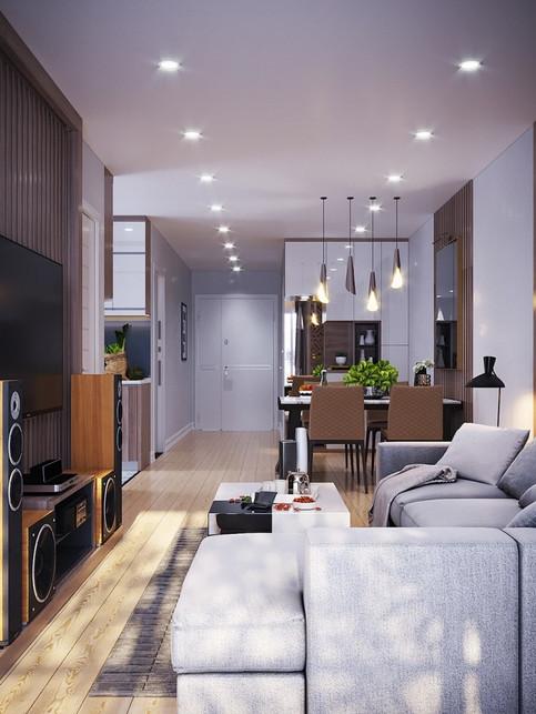 Contemporary interior in neutral tones