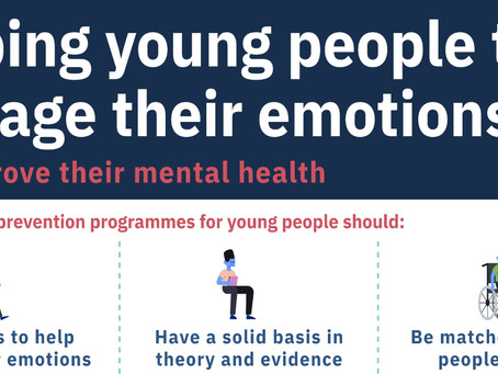 Helping young people to manage their emotions and improve their mental health