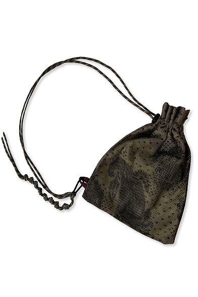 KHAKI PRINT MESH BAG