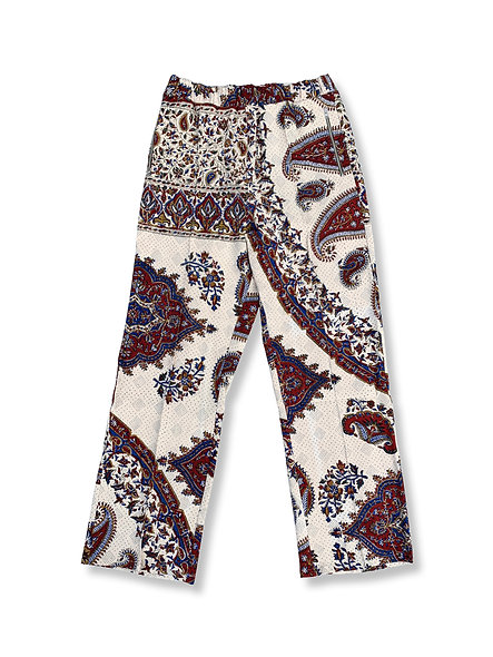 ARCHIVE IRANIAN WHITE PRINT TROUSERS