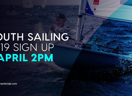 YOUTH SAILING 2019 SIGN UP