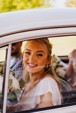 VW Beetle Wedding Car Wrest Park Bedfordshire - Photography by Sally Forder