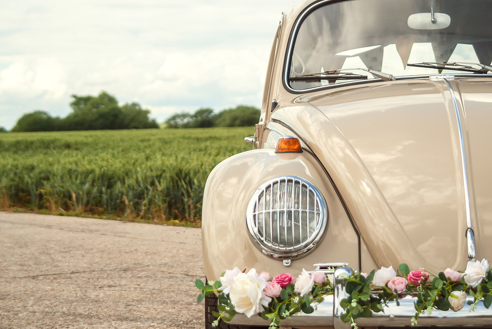 VW Beetle Wedding Car in Hertfordshire