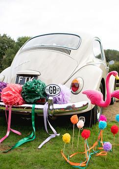 Colourful Beetle Wedding Car