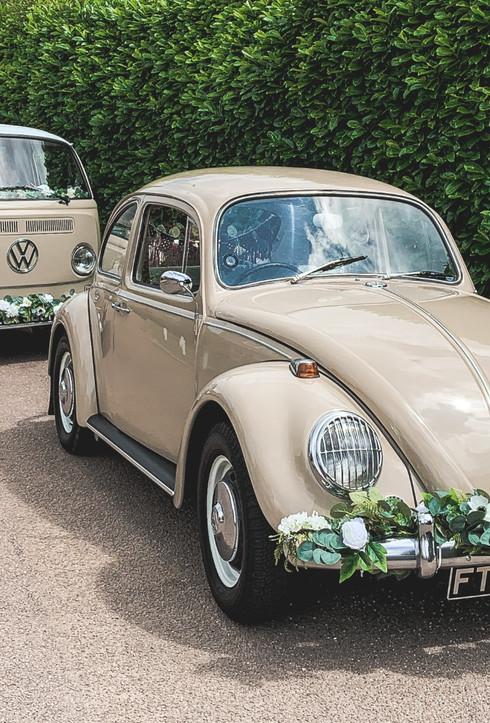VW Campervan & Beetle Wedding Car