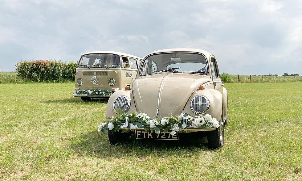 Wedding VW Campervan and Beetle