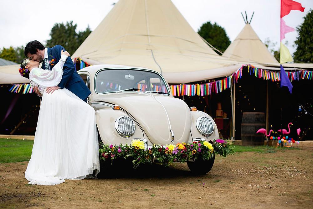 Classic VW Beetle Wedding car