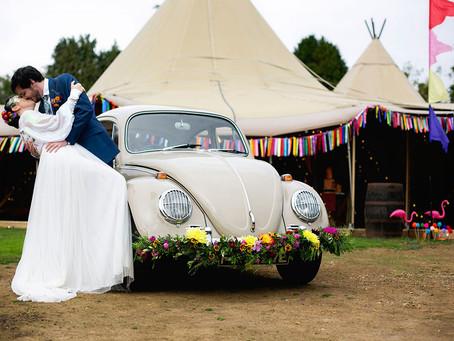 FESTIVAL & TIPI WEDDING CAR HIRE IN HERTFORDSHIRE