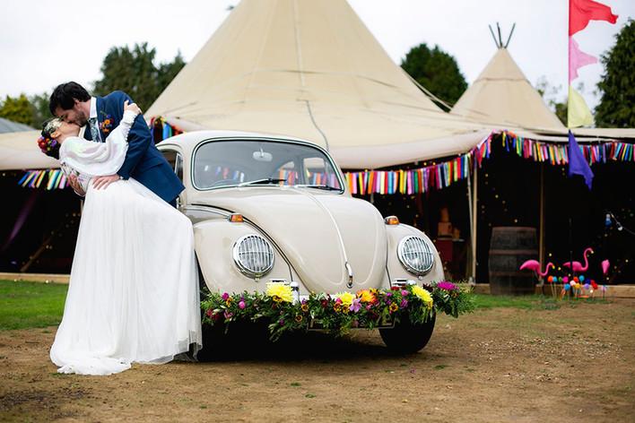 Classic Beetle wedding car
