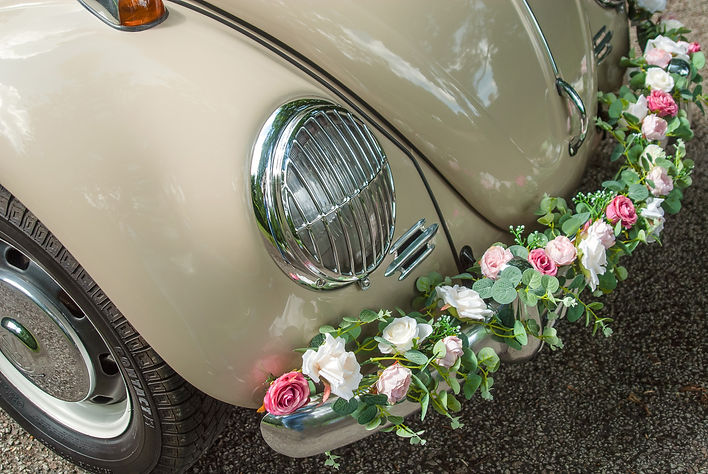Vintage Wedding Beetle Car Hire