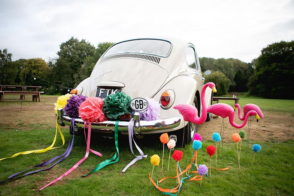 VW Beetle Wedding Car Hertfordshire