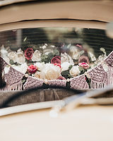 Interior Decorations VW Beetle Wedding Car