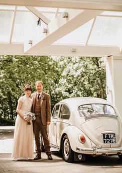 VW Beetle Wedding Car - Photography by Gareth Jones Photography