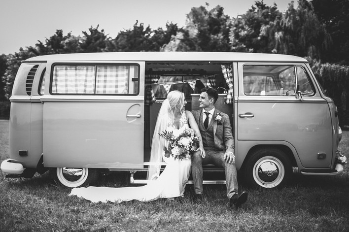 Wedding VW Campervan Hertfordshire - Photo by Sally Forder
