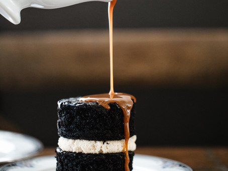 Guinness (Stout) Chocolate Cake Stacks