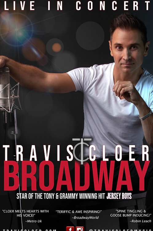 """signed """"BROADWAY"""" poster"""