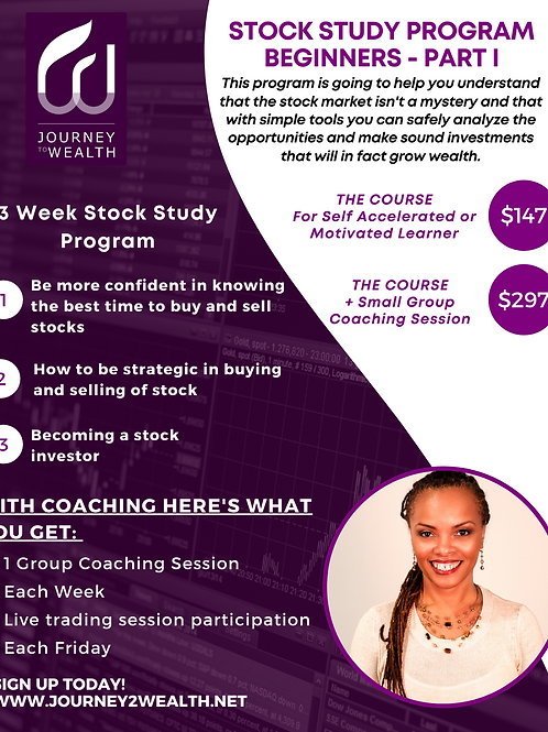 Members Beginner Stock Study With Coaching Sessions