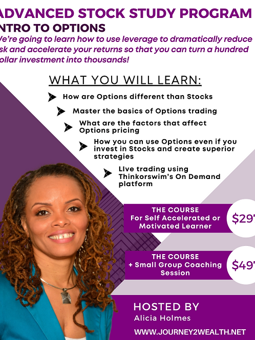 Member Advanced  Stock Study Intro to Options and LEAPs With Coaching Sessions