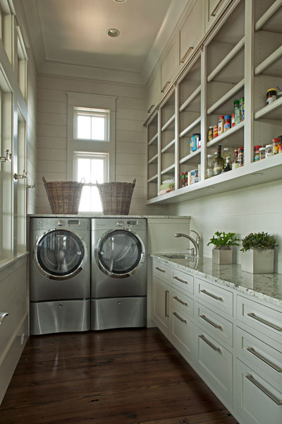 greige laundry room