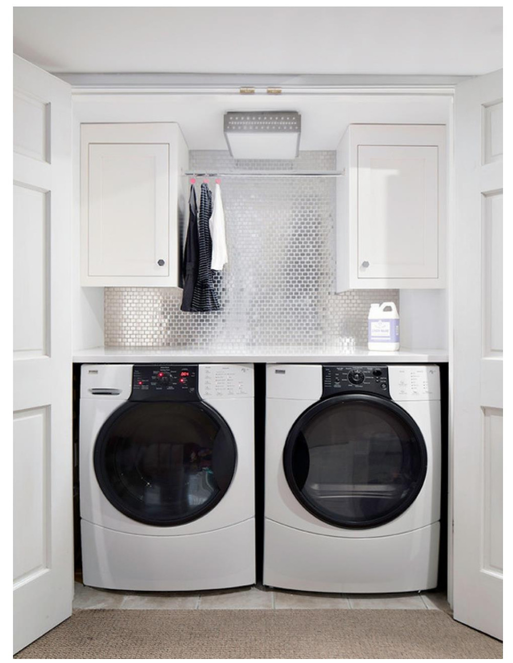 laundry closet with tile