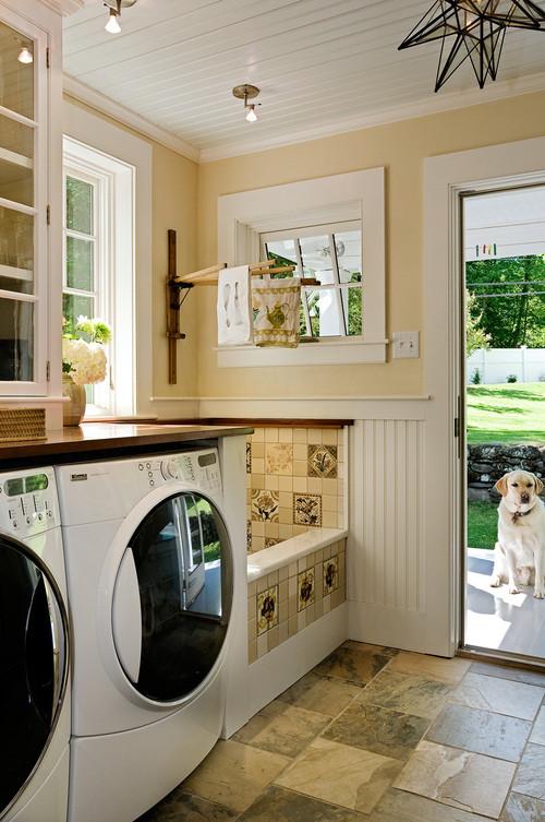 laundry with dog bath