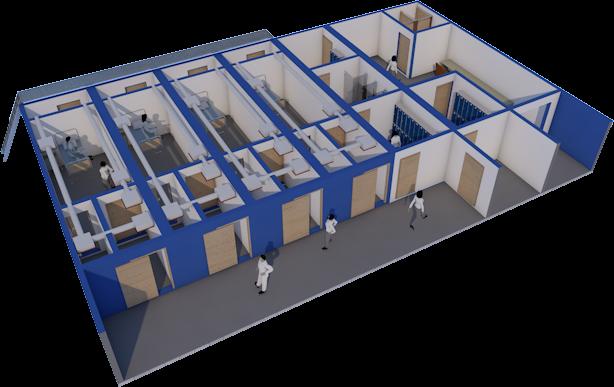 모듈러 건축시스템을 활용한 이동형 음압격리병실 -iBlock- (2020.03 ~ 2020.07)