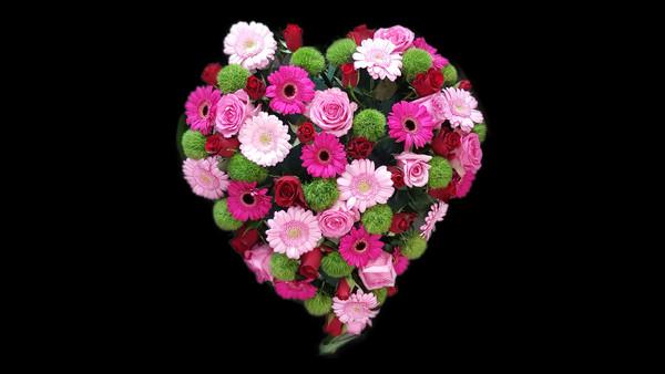 coeur deuil fleuriste le chant des fleur