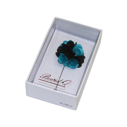 Flower Pin (Blue/Black)