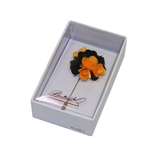 Flower Pin (Orange/Black)